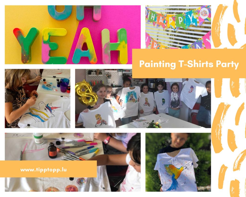Painting T-Shirts Party
